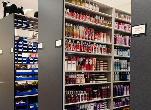 beauty product shelving retail storage