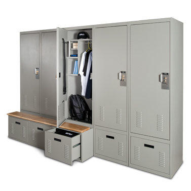 Personal Storage Lockers Boost Officer Morale