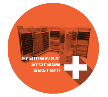 FrameWRX Storage System Product Section, modular storage system