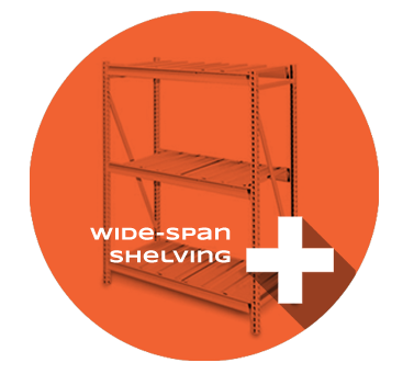 Wide-span shelving Product Section