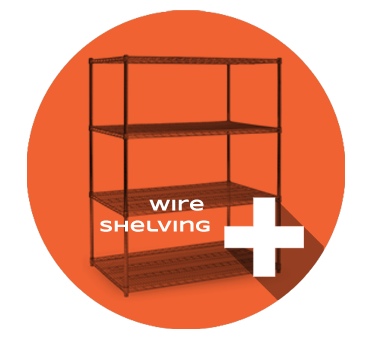 Wire shelving Product Section
