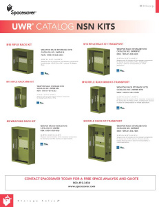 Army Nsn Data Acquisition Systems : Universal™ weapon rack uwr spacesaver corporation