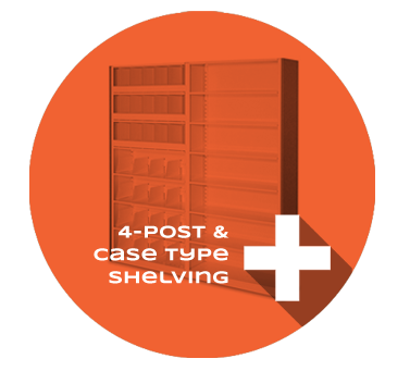 4-post and case type shelving Product Section