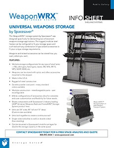 Free Download of Our Info Sheet WeaponWRX Storage System