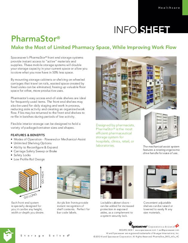Free Download Info Sheet: PharmaStor Mobile Storage