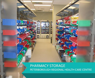 Pharmacy Storage at Peterborugh Regional Health Care Centre (Ontario)