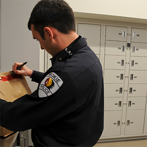 Short-term Evidence Storage Lockers, Skokie Police Department, Skokie, Illinois