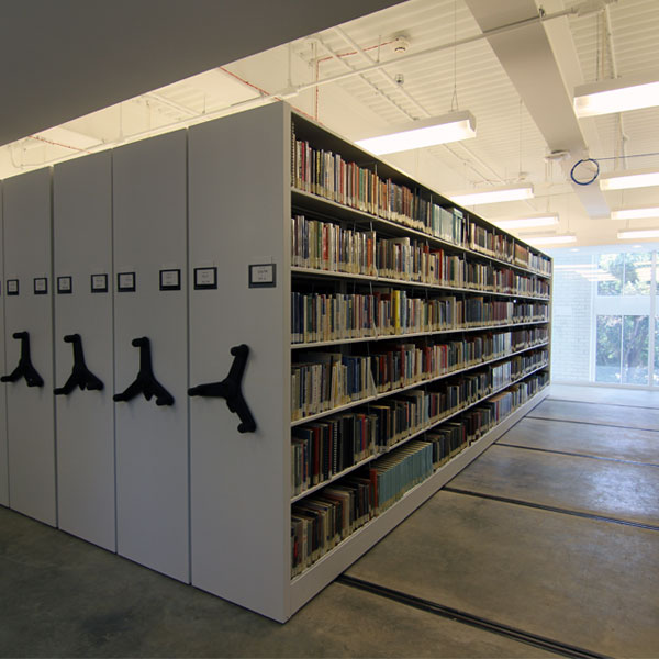 movable library shelving stack storage