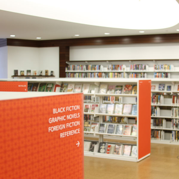 cantilever library display shelving