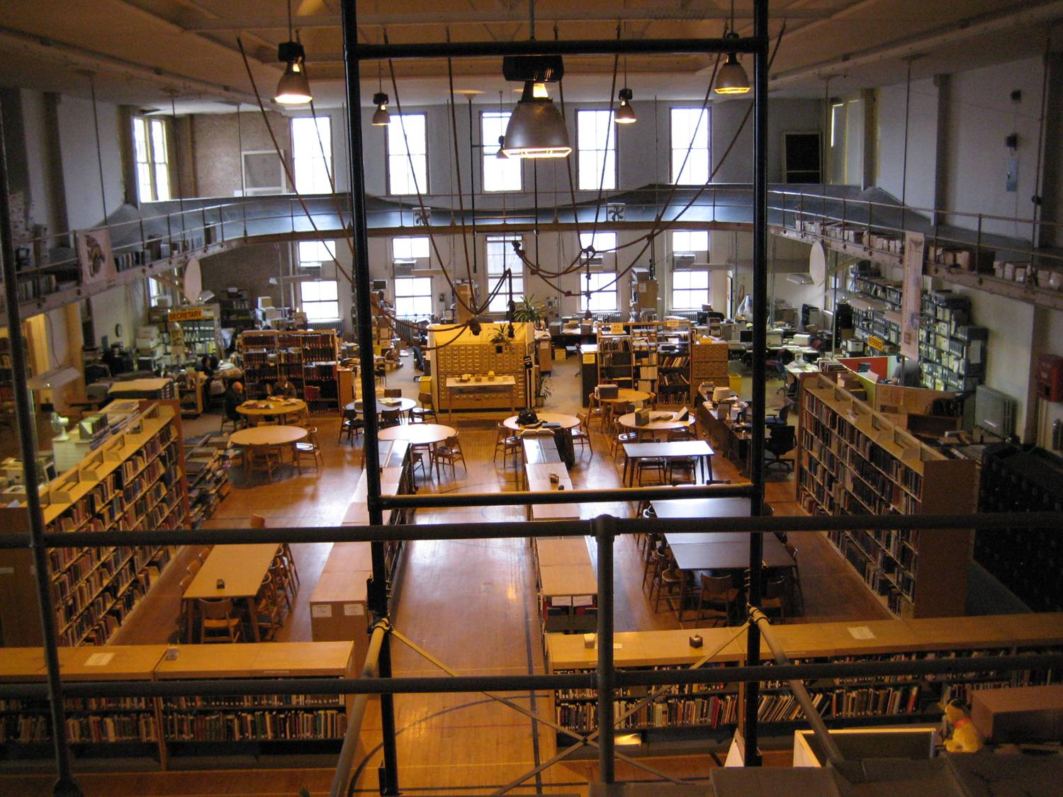 Collections housed in the old gymnasium in East Hall