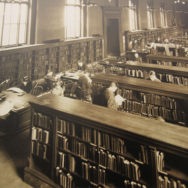 history library bookstacks before