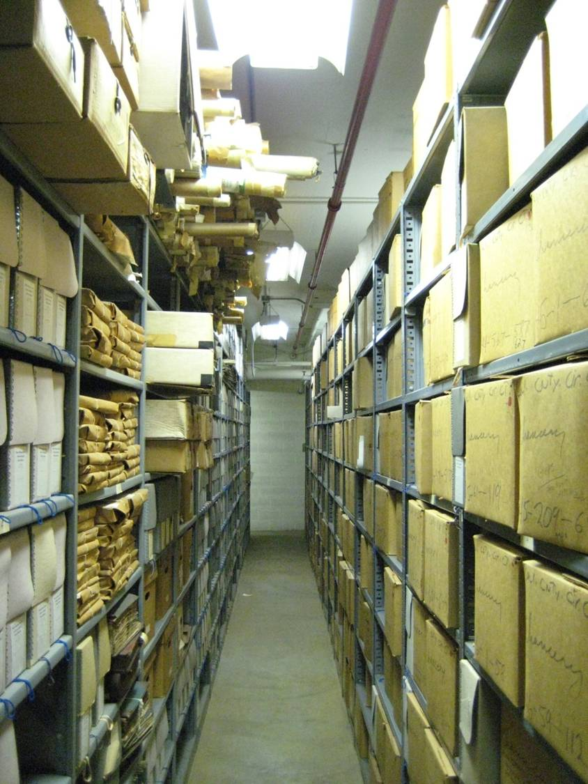Old collection storage in East Hall