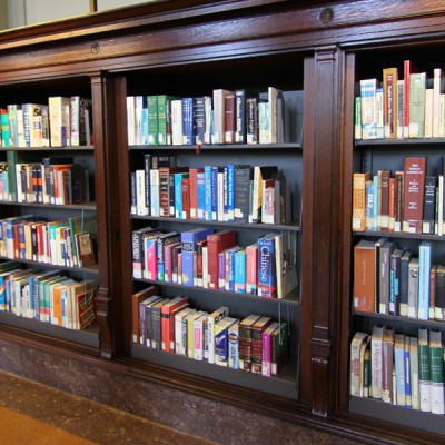 integrated metal library shelving