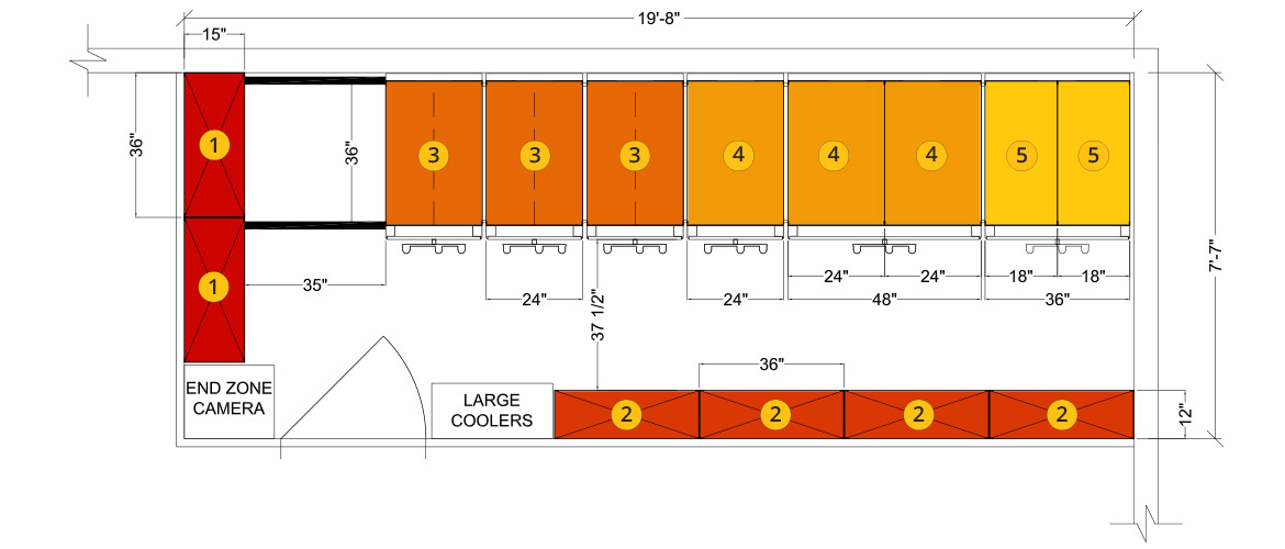 Example Floor plan for Athletic Equipment Room