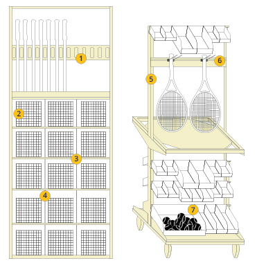 Tennis Shelving Configuration