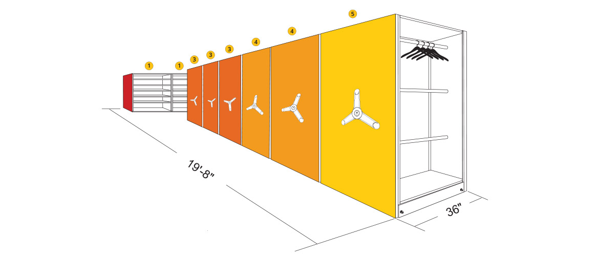 Example Elevation View of Athletic Storage Room