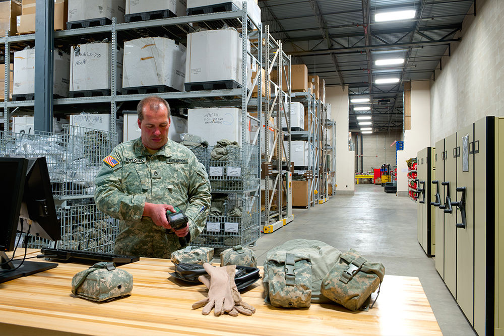 Archived files on mechanical-assist mobile system for the National Guard at Camp Ripley, MN