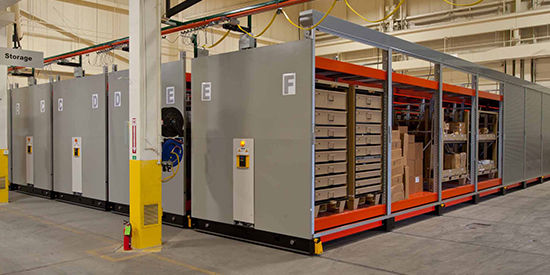 Gear is present and accounted for on an ActivRAC 30P Heavy-Duty racking system.