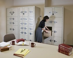 Evidence lockers used as secure file storage