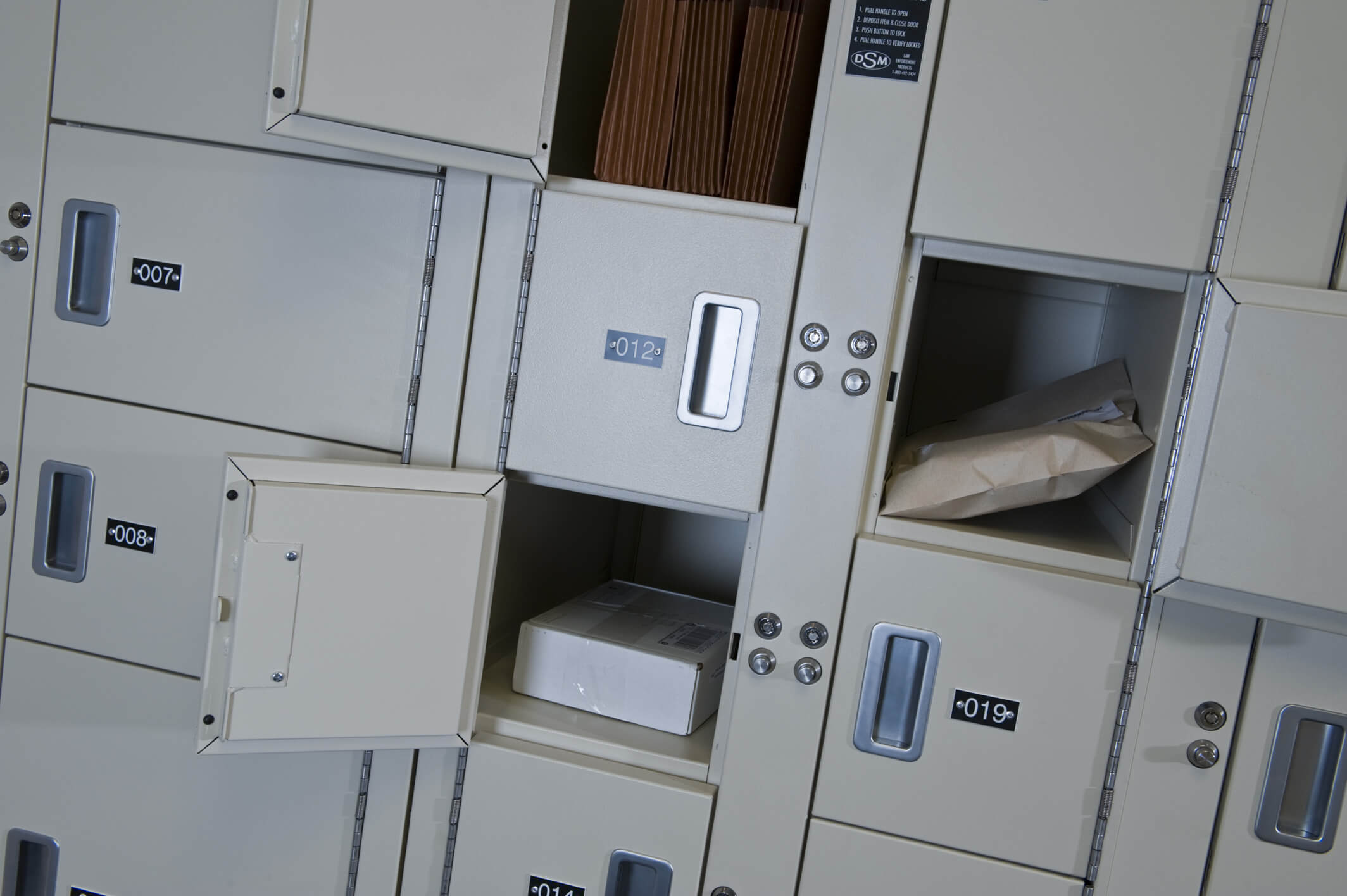 Secure Evidence Storage Lockers at Law Firm