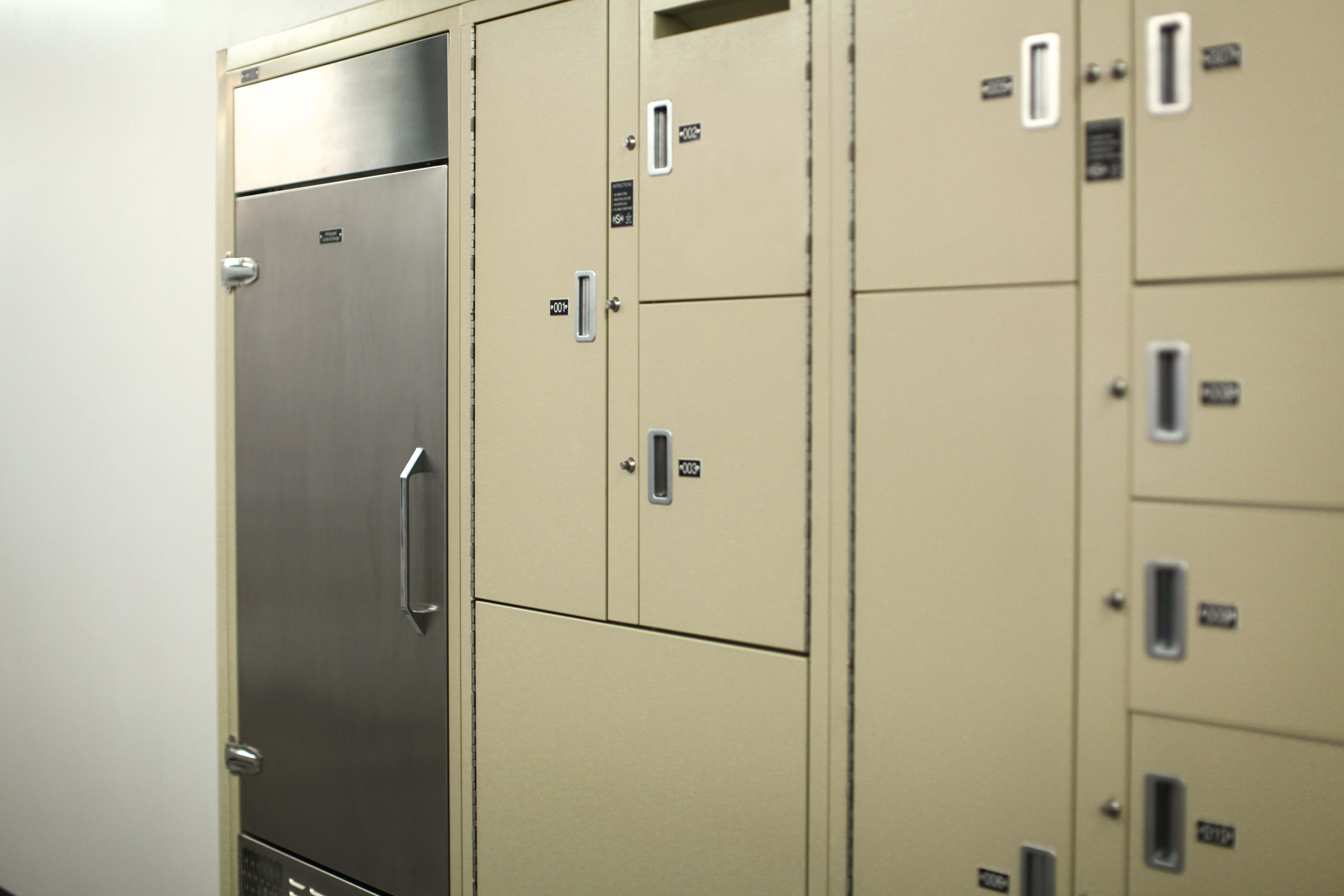 Built in evidence storage at Bensalem Police Department