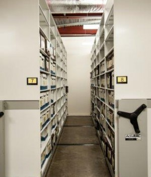 Records stored on mobilized storage system