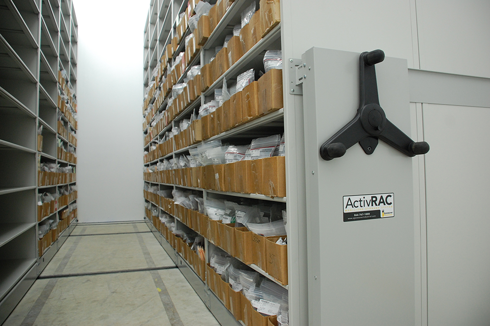 climate controlled storage movable shelving