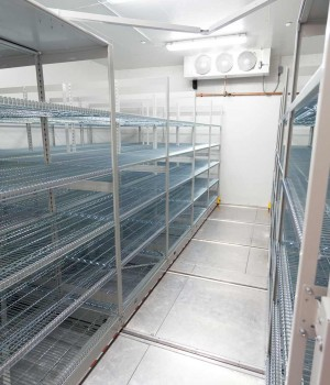 Seed Storage on Stainless Steel Shelving