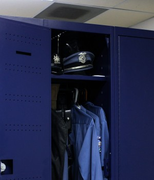 Secure personal storage locker at Bensalem, Pennsylvania Police Department