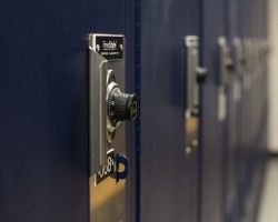 Comination Lock option for Secure locker storage at Bensalem, Pennsylvania Police Department
