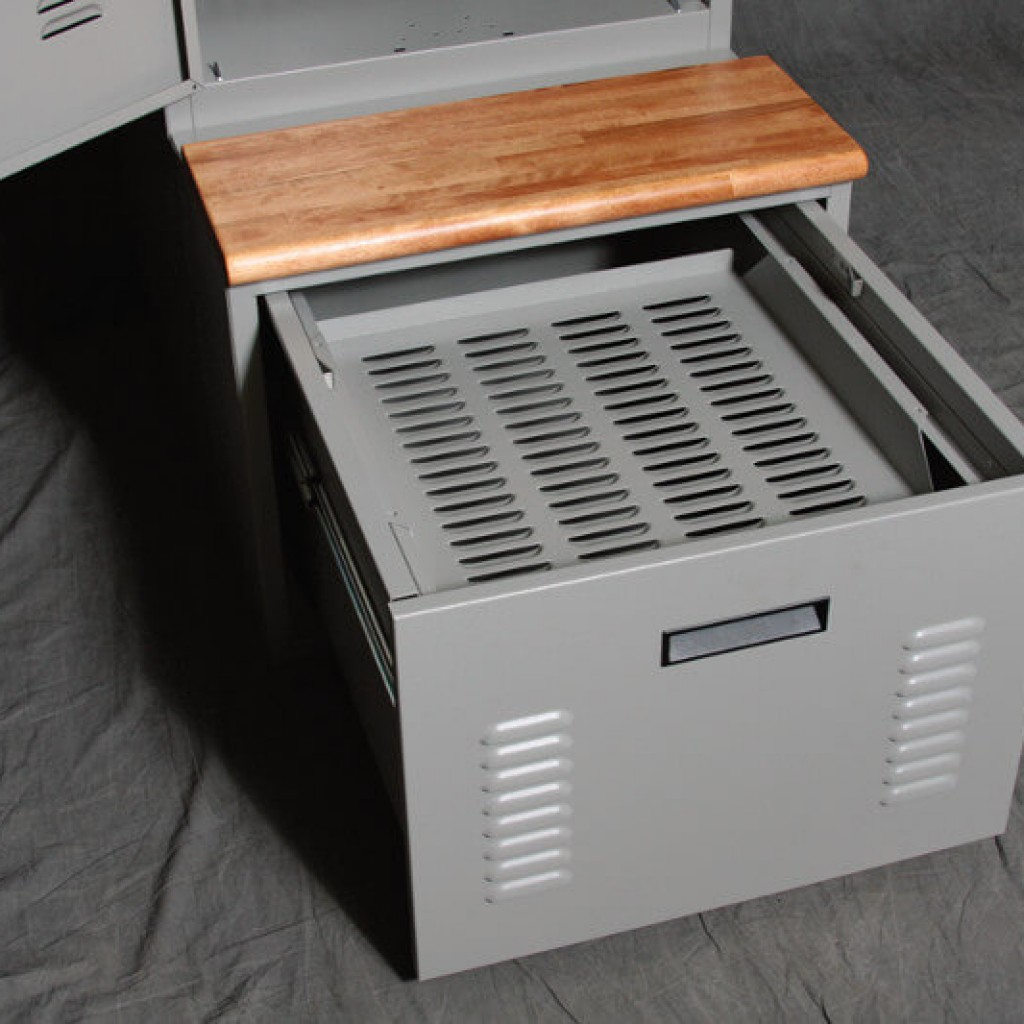 FreeStyle PSLs with Benches and Ventilated Rack in Storage Drawers