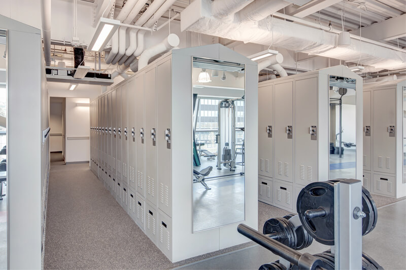 FreeStyle Configurable Personal Storage Lockers in Locker Room, Salt Lake City, Utah