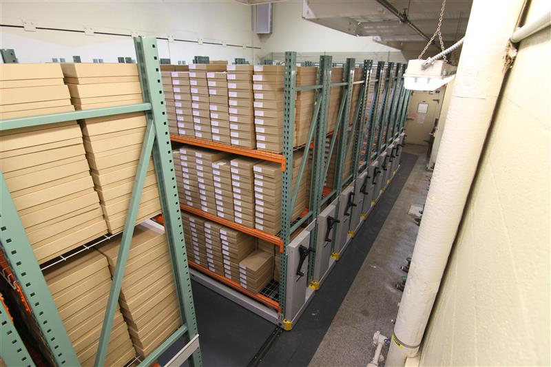 Top View of Compact Storage System at University of Washington Fish Sciences