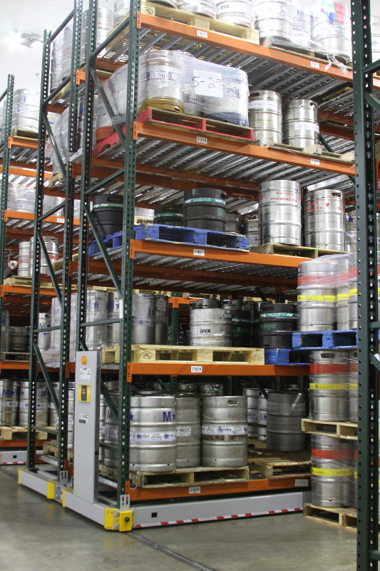 Beer Distributing Center Keg Storage