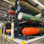 Artifact Storage at Naval Undersea Museum includes 6,000 pound torpedoes