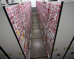 Mobile shelving with long term evidence storage
