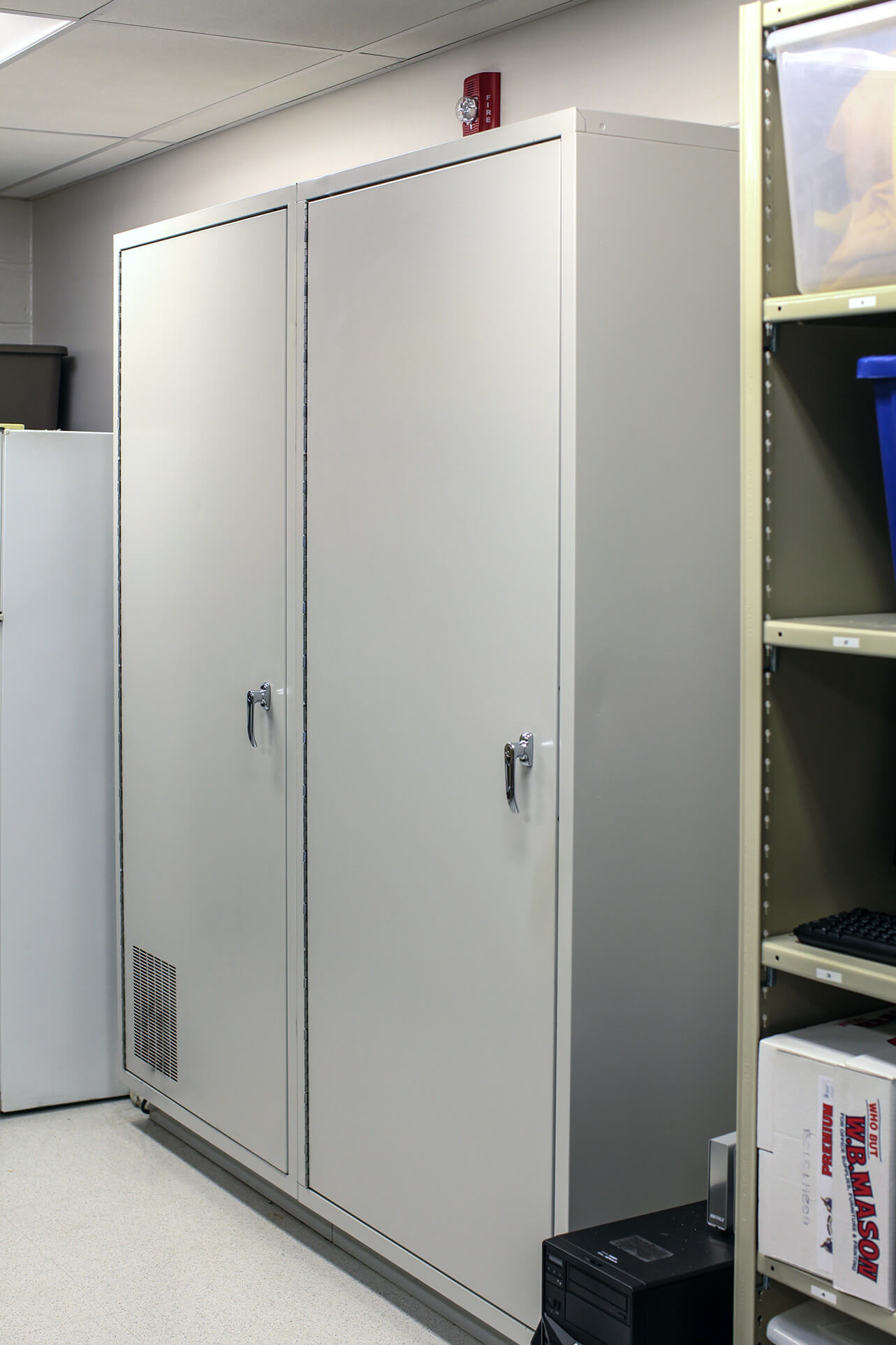 Back access to short-term evidence storage locker at Salisbury Township Police Department