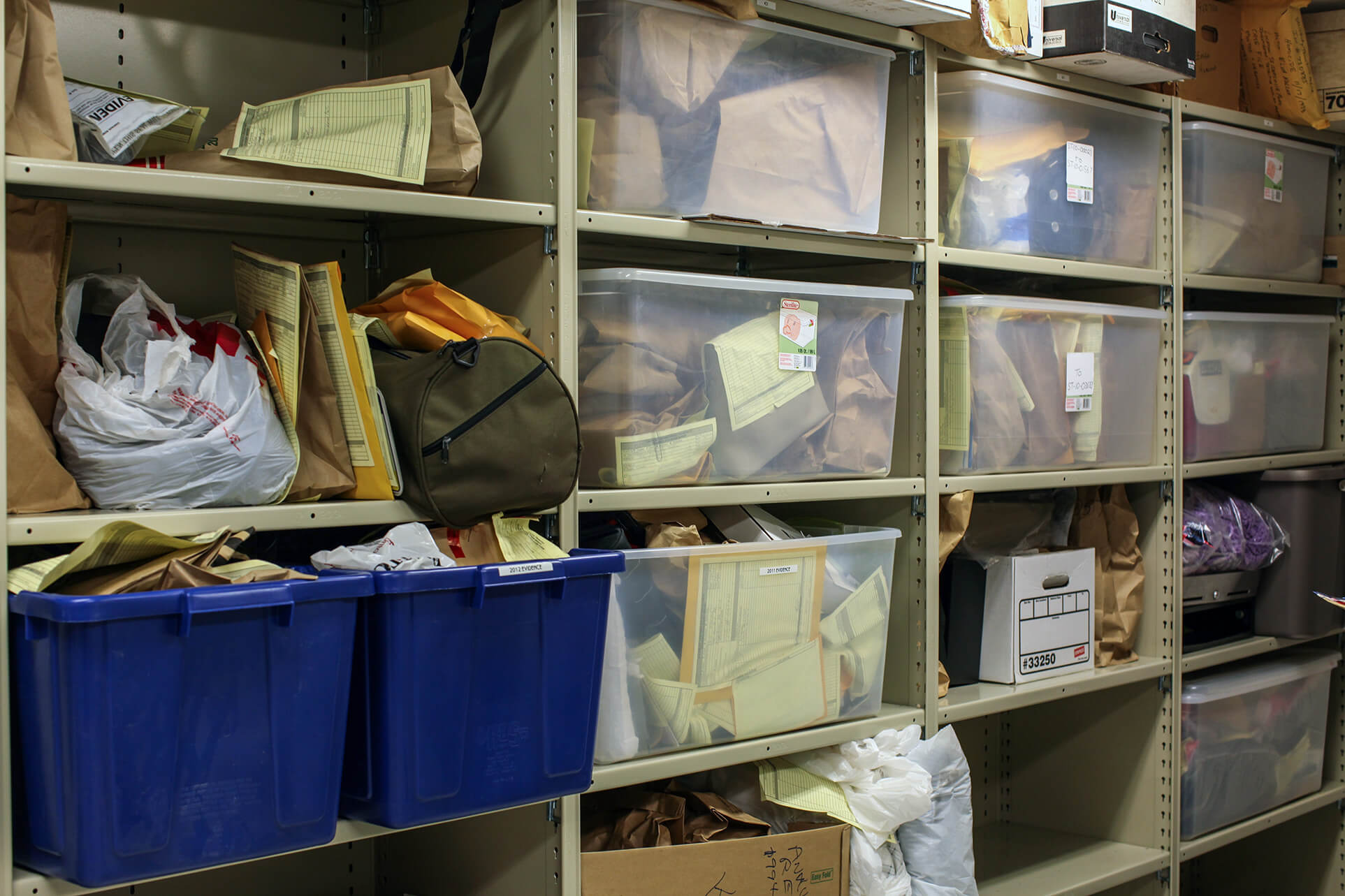 Long-Term Evidence storage at Salisbury Township Police Department