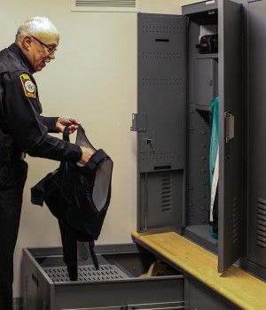 Uniform and Gear Storage Lockers at Salisbury Township Police Department