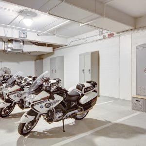 Locker Storage in Garage at Salt Lake City Public Safety Building