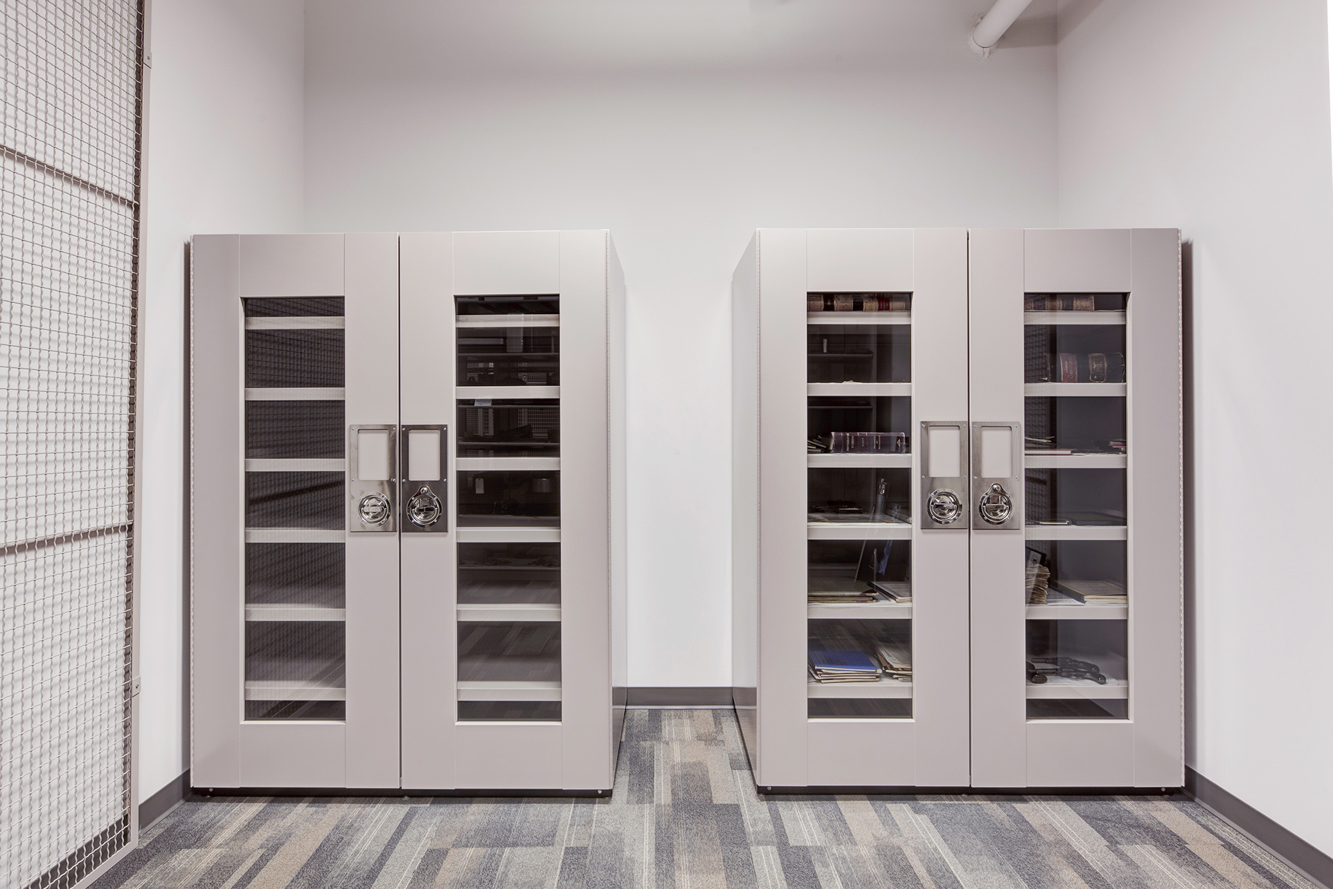 Archival Storage in Delta Design Cabinets