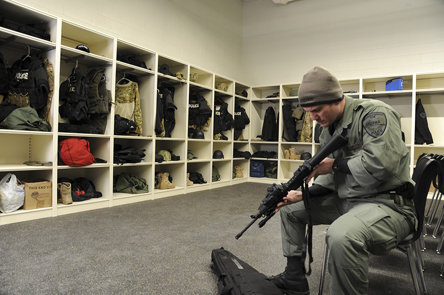 Custom Heavy Duty Lockers Assist With Police Tactical Gear