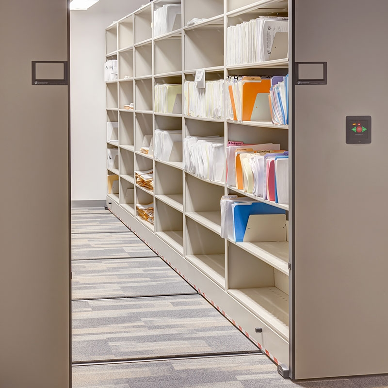 compact storage office shelving