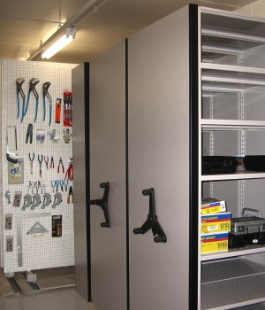 Compact mobile storage for power tools at Jefferson City Corrections Center