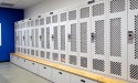 Perforated mesh doors for ventilation on personal lockers for SWAT team at Franklin Police Department