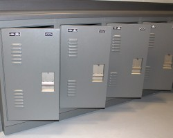 Inmate Property Lockers at Montclair Police Department