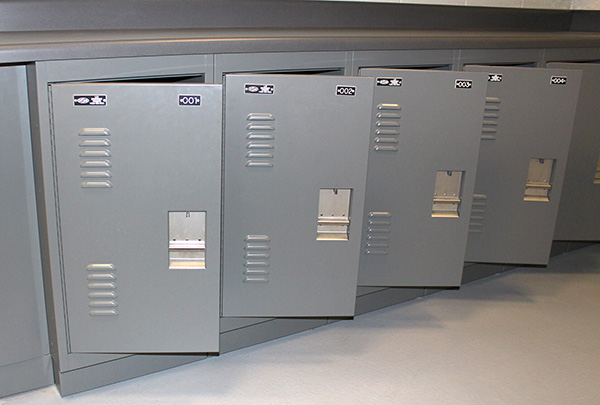 DSM Evidence Lockers Create Prisoner Property Storage At Montclair PD |  Spacesaver Corporation