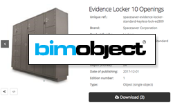 BIM object for evidence lockers