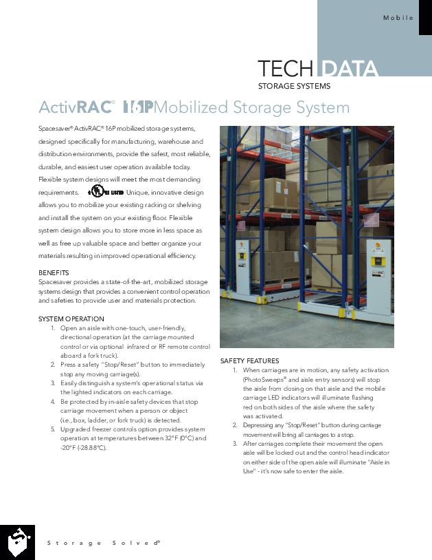 Free Download Tech Data: ActivRAC 16P