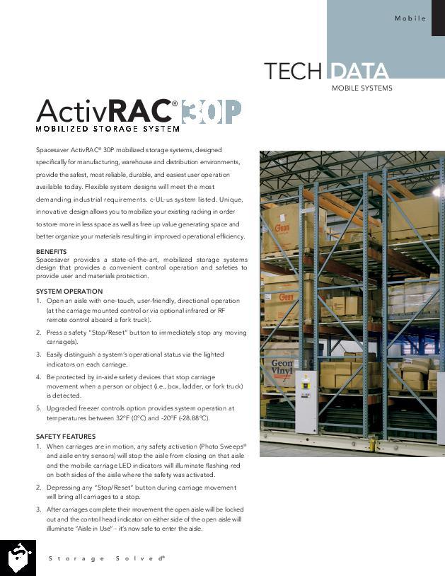 Free Download Tech Data: ActivRAC 30P